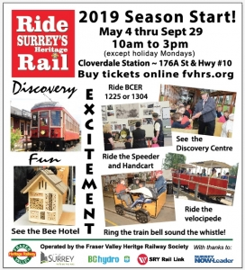 EVENTS – Fraser Valley Heritage Rail Society