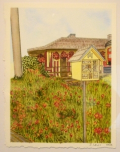 Third Place - Flowers at the Station, Judy Lewis