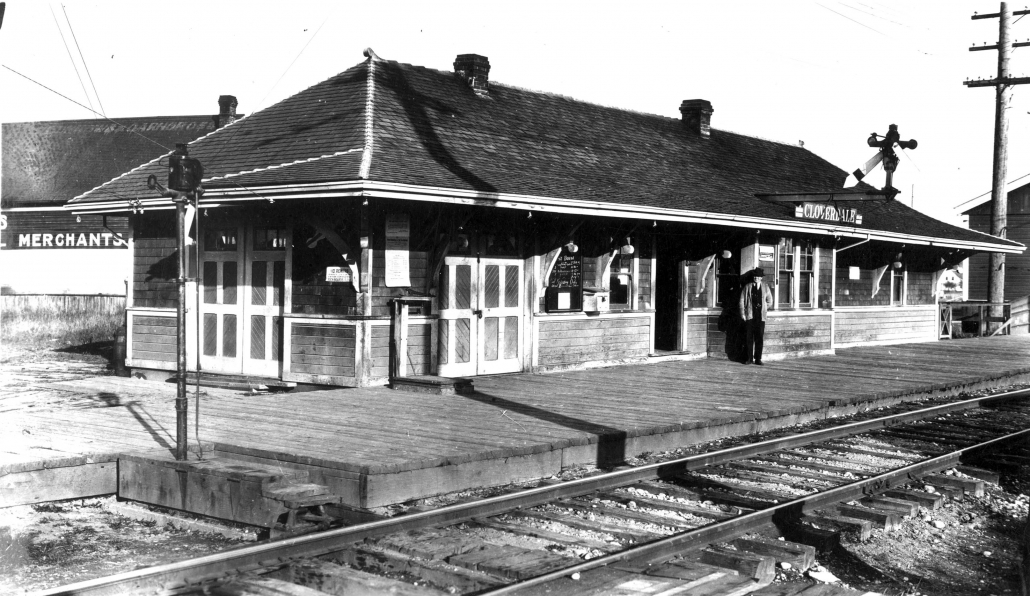 Cloverdale Station ca 1920. Surrey Archives